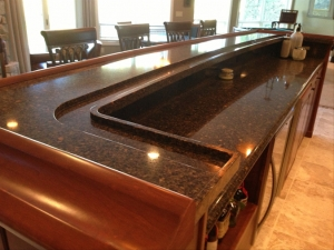 Countertop Installation Ann Arbor MI- Cambria Quartz | Dexter Cabinet & Countertop - bar_island_photo